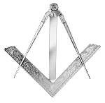 Funeral Square & Compass Blue Lodge Masonic Working Tool - RBL-91