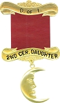 2nd Ceremonial Daughter Daughters of Isis Masonic Officer Jewel - [Gold] - RDI-10