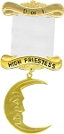 High Priestess Daughters of Isis Masonic Officer Jewel - [Gold] - RDI-11