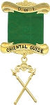 Oriental Guide Daughters of Isis Masonic Officer Jewel - [Gold] - RDI-12