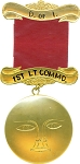 1st Lt. Commandress Daughters of Isis Masonic Officer Jewel - [Gold] - RDI-2
