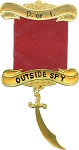 Outside Spy Daughters of Isis Masonic Officer Jewel - [Gold] - RDI-5