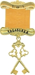 Treasurer Daughters of Isis Masonic Officer Jewel - [Gold] - RDI-6
