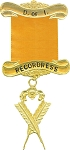 Recordress Daughters of Isis Masonic Officer Jewel - [Gold] - RDI-7