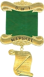 Marshal Daughters of Isis Masonic Officer Jewel - [Gold] - RDI-8