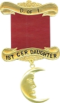 1st Ceremonial Daughter Daughters of Isis Masonic Officer Jewel - [Gold] - RDI-9