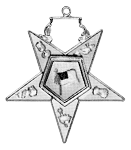 Christian Flag Bearer Order of the Eastern Star Masonic Officer Jewel - [Gold][2''] - RES-100