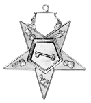 Trustee Order of the Eastern Star Masonic Officer Jewel - [Gold][2''] - RES-101