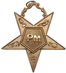 Past Matron Order of the Eastern Star Masonic Officer Jewel - [Gold] - RES-102