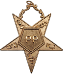 Past Patron Order of the Eastern Star Masonic Officer Jewel - [Gold] - RES-104