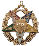 Past Patron with Wreath Order of the Eastern Star Masonic Officer Jewel - [Gold] - RES-104-WDE