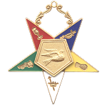 Warder Order of the Eastern Star Masonic Officer Jewel - [Gold][2 1/2''] - RES-11