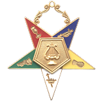 Organist Order of the Eastern Star Masonic Officer Jewel - [Gold][2 1/2''] - RES-14