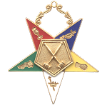 Past Matron Order of the Eastern Star Masonic Officer Jewel - [Gold][2 1/2''] - RES-15
