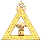 Ruth Order of the Eastern Star Masonic Officer Jewel - [Gold][2 1/2''] - RES-19