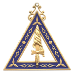 Adah Order of the Eastern Star Masonic Officer Jewel - [Gold][2 1/2''] - RES-20