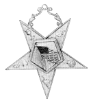 U.S. Flag Bearer Order of the Eastern Star Masonic Officer Jewel - [Gold][2 1/2''] - RES-21