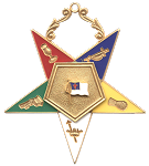 Christian Flag Bearer Order of the Eastern Star Masonic Officer Jewel - [Gold][2 1/2''] - RES-23