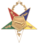 Trustee Order of the Eastern Star Masonic Officer Jewel - [Gold][2 1/2''] - RES-24