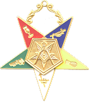 Patron Order of the Eastern Star Masonic Officer Jewel - [Gold][2 1/2''] - RES-2