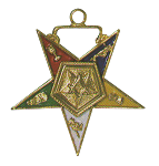 Patron Order of the Eastern Star Masonic Officer Jewel - [Gold][1 1/2''] - RES-30