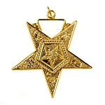 Associate Patron Order of the Eastern Star Masonic Officer Jewel - [Gold][1 1/2''] - RES-31