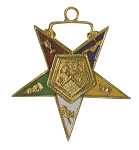 Treasurer Order of the Eastern Star Masonic Officer Jewel - [Gold][1 1/2''] - RES-32