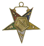 Secretary Order of the Eastern Star Masonic Officer Jewel - [Gold][1 1/2''] - RES-34
