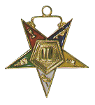 Chaplain Order of the Eastern Star Masonic Officer Jewel - [Gold][1 1/2''] - RES-40