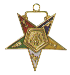 Organist Order of the Eastern Star Masonic Officer Jewel - [Gold][1 1/2''] - RES-42