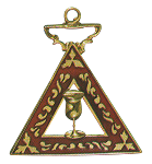 Electa Order of the Eastern Star Masonic Officer Jewel - [Gold][1 1/2''] - RES-45