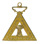 Ruth Order of the Eastern Star Masonic Officer Jewel - [Gold][1 1/2''] - RES-47