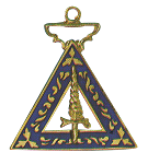 Adah Order of the Eastern Star Masonic Officer Jewel - [Gold][1 1/2''] - RES-48