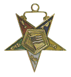 U.S. Flag Bearer Order of the Eastern Star Masonic Officer Jewel - [Gold][1 1/2''] - RES-49