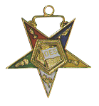 OES Flag Bearer Order of the Eastern Star Masonic Officer Jewel - [Gold][1 1/2''] - RES-50