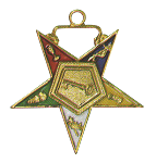 Trustee Order of the Eastern Star Masonic Officer Jewel - [Gold][1 1/2''] - RES-52