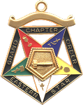 Grand Matron Order of the Eastern Star Grand Chapter Masonic Officer Jewel  - RES-54