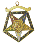 Grand Patron Order of the Eastern Star Grand Chapter Masonic Officer Jewel  - RES-55