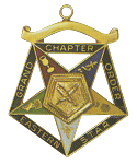 Grand Secretary Order of the Eastern Star Grand Chapter Masonic Officer Jewel  - RES-59