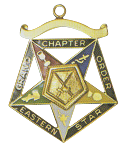 Grand Sentinel Order of the Eastern Star Grand Chapter Masonic Officer Jewel  - RES-60