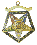 Grand Conductress Order of the Eastern Star Grand Chapter Masonic Officer Jewel  - RES-63