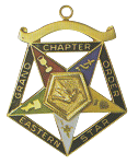 Grand Warder Order of the Eastern Star Grand Chapter Masonic Officer Jewel  - RES-64