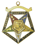 Grand Chaplain Order of the Eastern Star Grand Chapter Masonic Officer Jewel  - RES-65