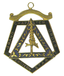 Grand Adah Order of the Eastern Star Grand Chapter Masonic Officer Jewel  - RES-72
