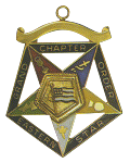 Grand U.S. Flag Bearer Order of the Eastern Star Grand Chapter Masonic Officer Jewel  - RES-73