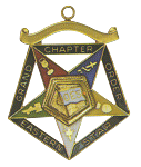 Grand OES Flag Bearer Order of the Eastern Star Grand Chapter Masonic Officer Jewel  - RES-74