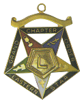 Grand Lecturer Order of the Eastern Star Grand Chapter Masonic Officer Jewel  - RES-77
