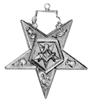 Patron Order of the Eastern Star Masonic Officer Jewel - [Gold][2''] - RES-79