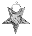Treasurer Order of the Eastern Star Masonic Officer Jewel - [Gold][2''] - RES-81