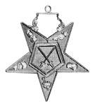 Sentinel Order of the Eastern Star Masonic Officer Jewel - [Gold][2''] - RES-84